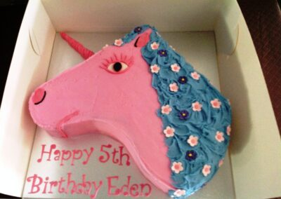 Pink Unicorn Birthday Cake