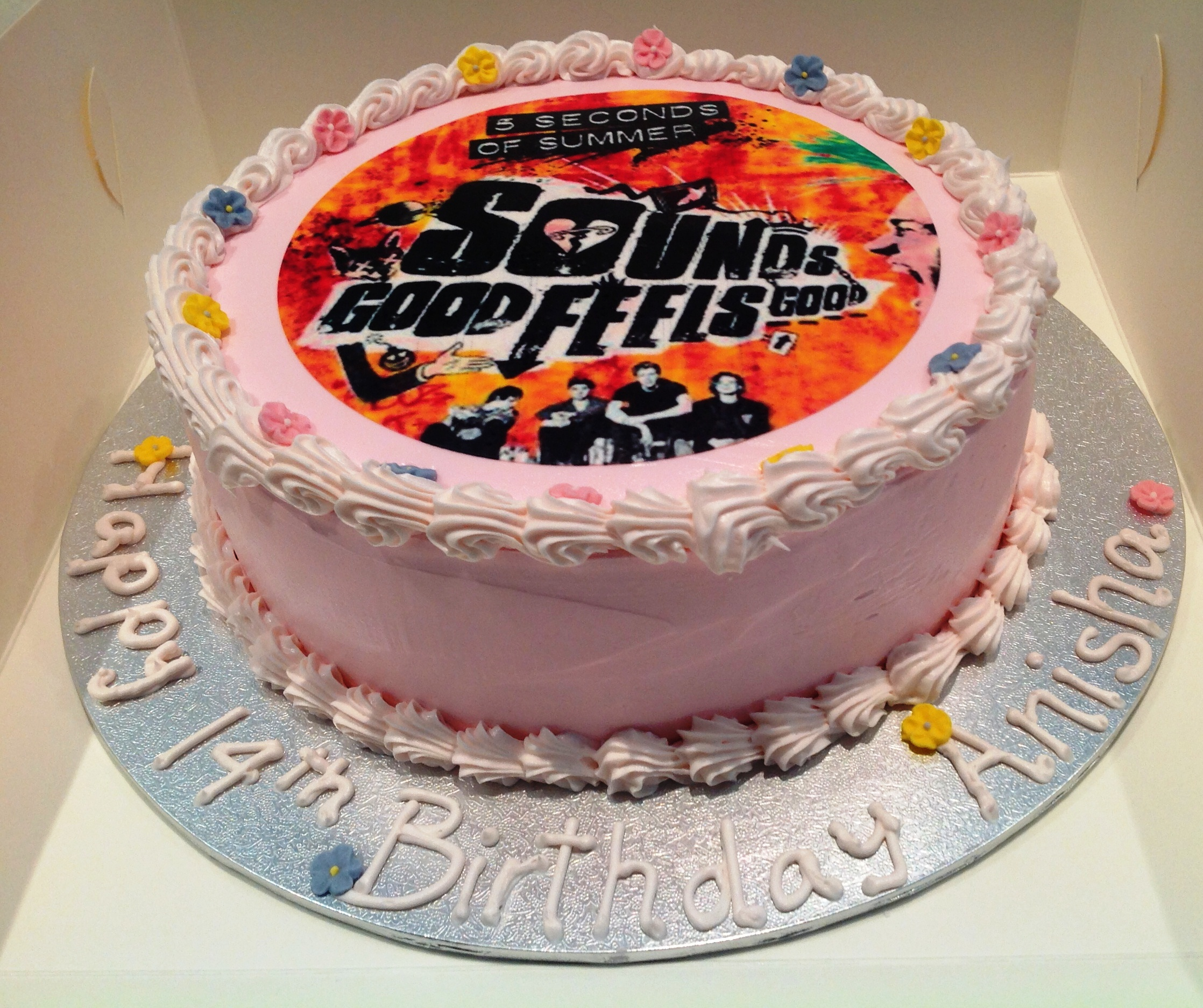 5 Seconds Of Summer Birthday Cake All Occasions Speciality Cakes