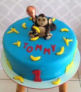 Monkey Boys Birthday Cake