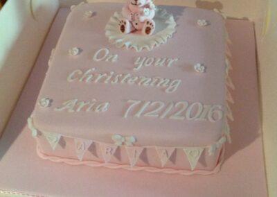 Aria Pink Christening Cake