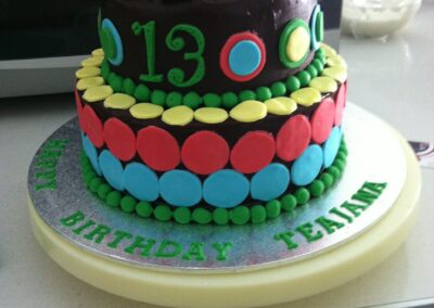2 Tier Colourful Birthday Cake