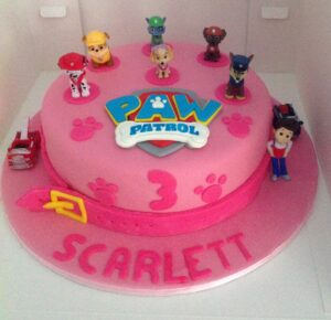 Pink Paw Patrol Girls Birthday Cake