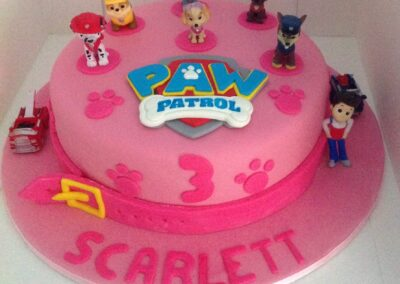 Pink Paw Patrol Girls Birthday Cake