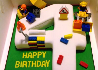 Lego Themed 4th Birthday Cake
