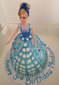 Blue Dolly Birthday Cake