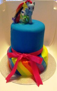 2 Tier My Little Pony Birthday Cake