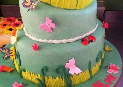 Girl 3 Tier Onky Wonky Birthday Cake