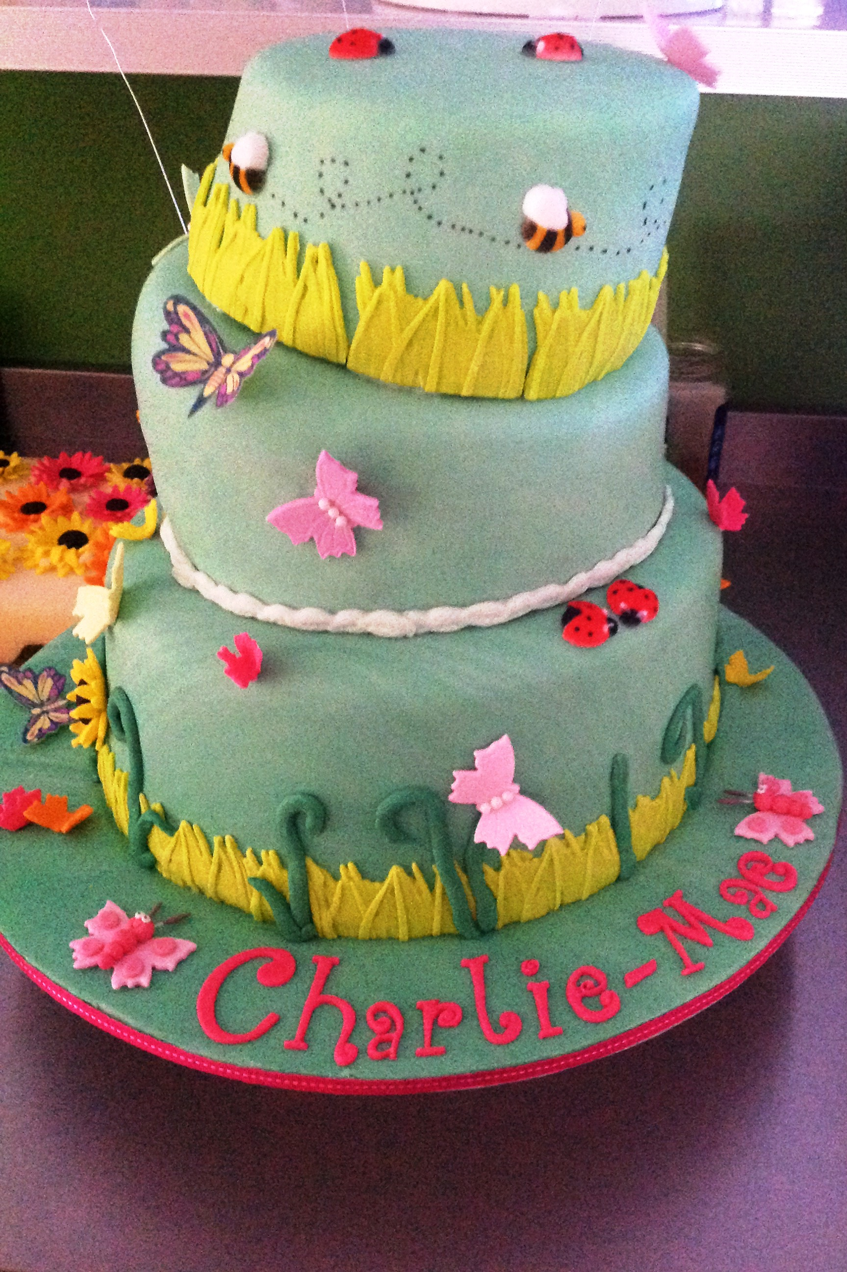 Girl 3 Tier Onky Wonky Birthday Cake All Occasions Speciality Cakes