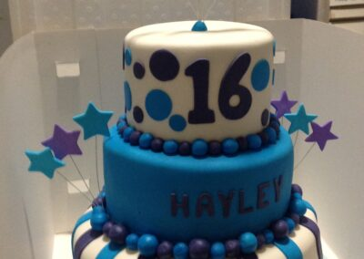 3 Tier Teens Birthday Cake