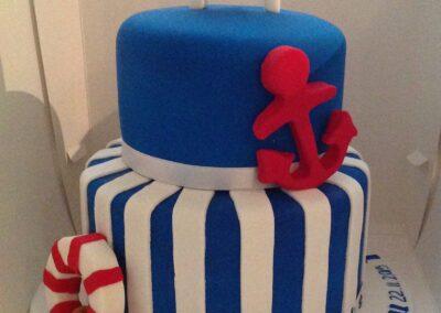 2015 Sailor Christening Cake