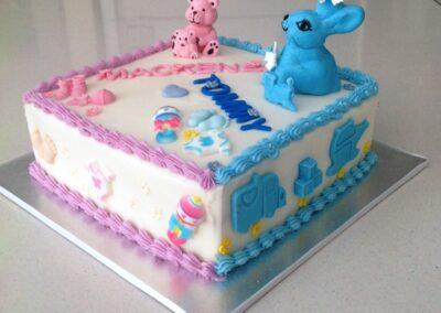 Pink & Blue Gender Reveal Cake