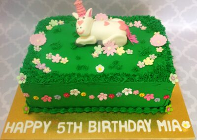 Girl Pony Theme Birthday Cake