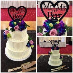 Wedding cake 3 tier with Buttercream