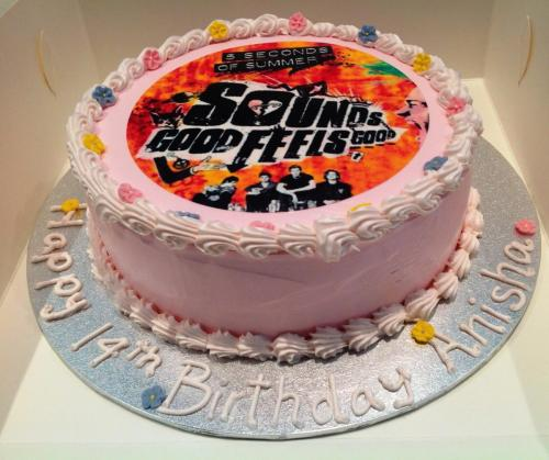 5 Seconds of Summer Birthday Cake