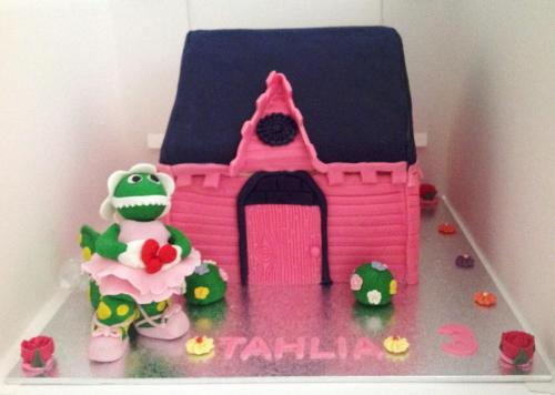 Pink House Girls Birthday Cake