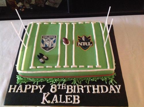 NRL Field Birthday Cake