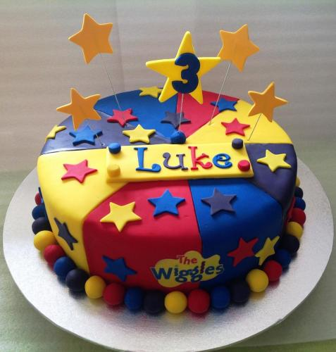 Wiggles Themed Birthday Cake