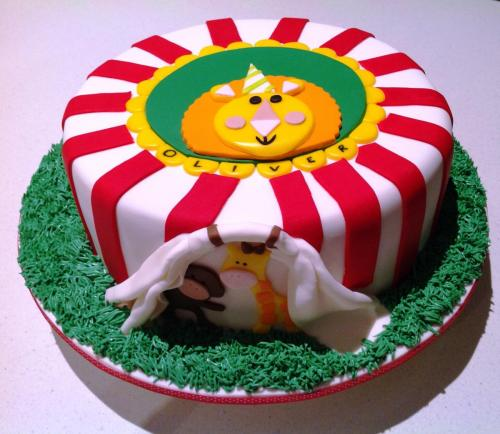 Lion Circus Birthday Cake