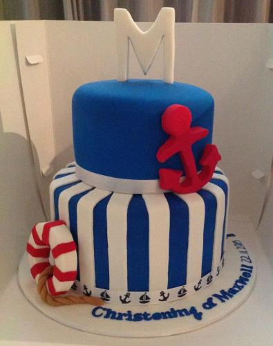 Sailor Christening Cake