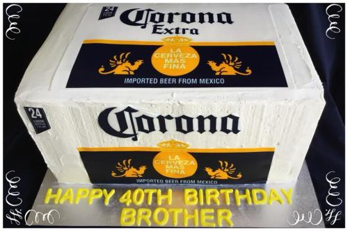 Corona Slab birthday cake in buttercream