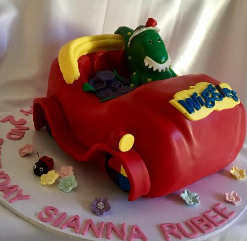 Dorothy and Wiggles car birthday cake