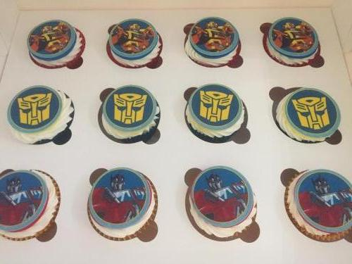 Transformer themed cupcakes