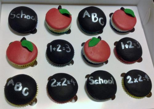 Education themed cupcakes